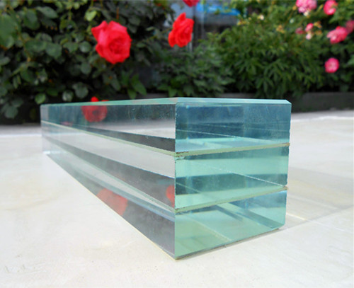 19mm ultra white laminated glass 3 layers